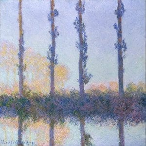 Working Title/Artist: Monet: The Four TreesDepartment: European PaintingsCulture/Period/Location: HB/TOA Date Code: Working Date: photography by mma, Digital File DT832.tif retouched by film and media (jnc) 12_7_10